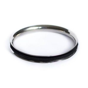 Jewelry - BASIC Hair Tie Bracelet Bangle in SILVER